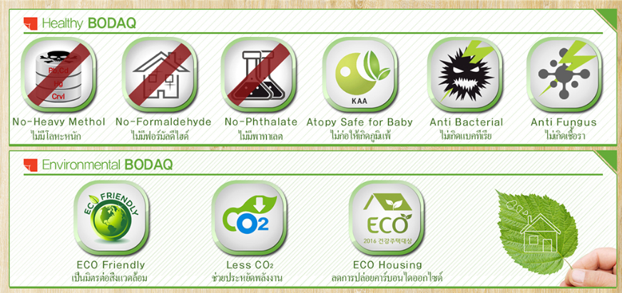 Bodaq eco-friendly material