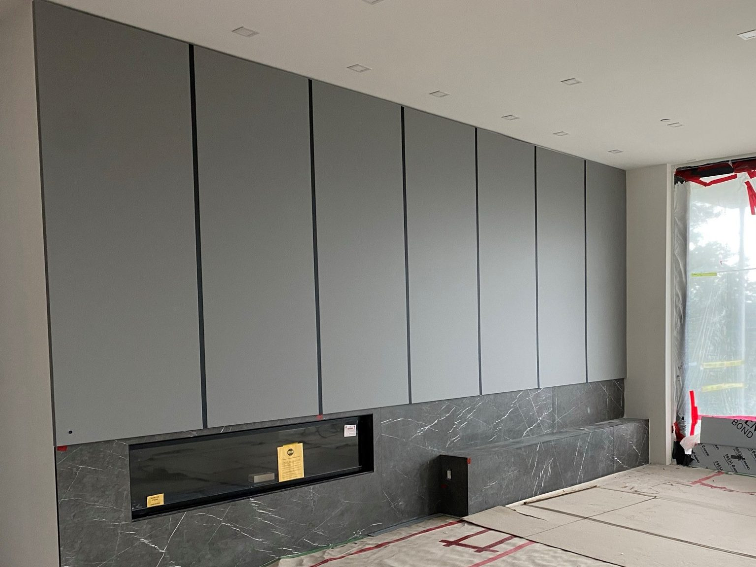 Grey refinished panels