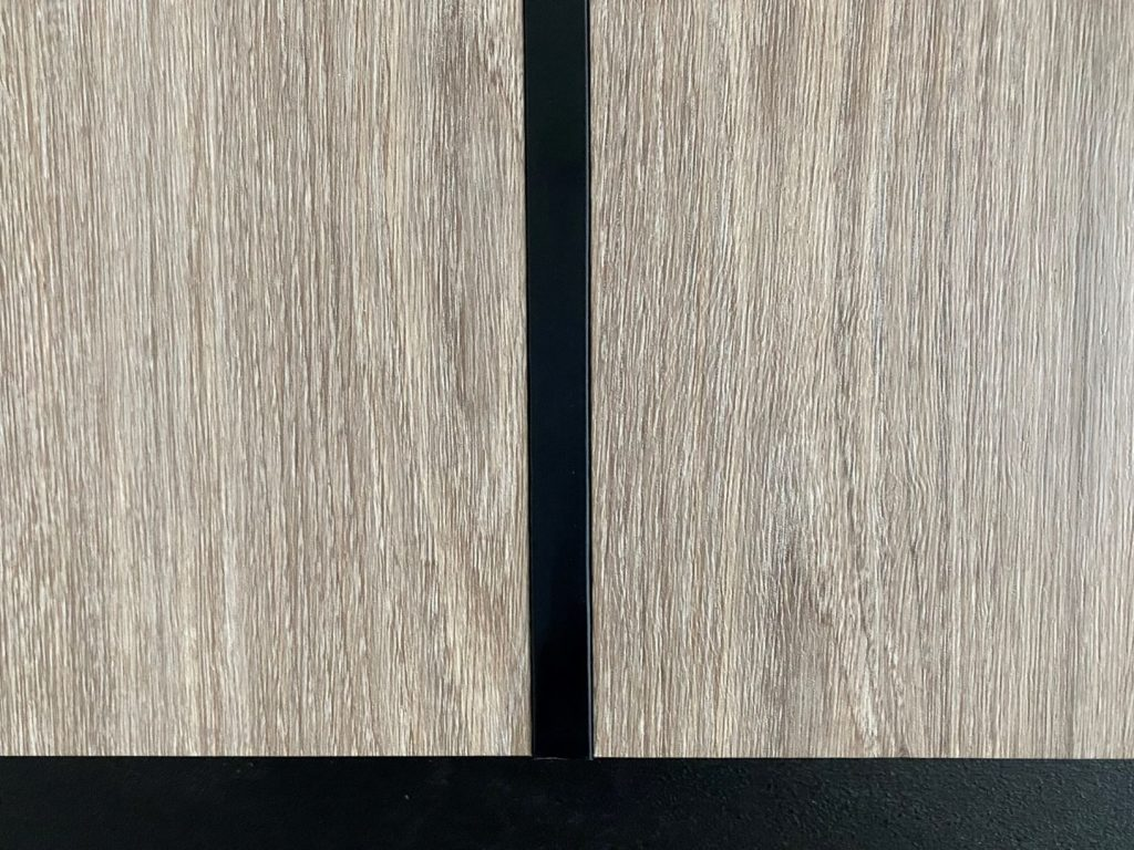 Wood panels close up