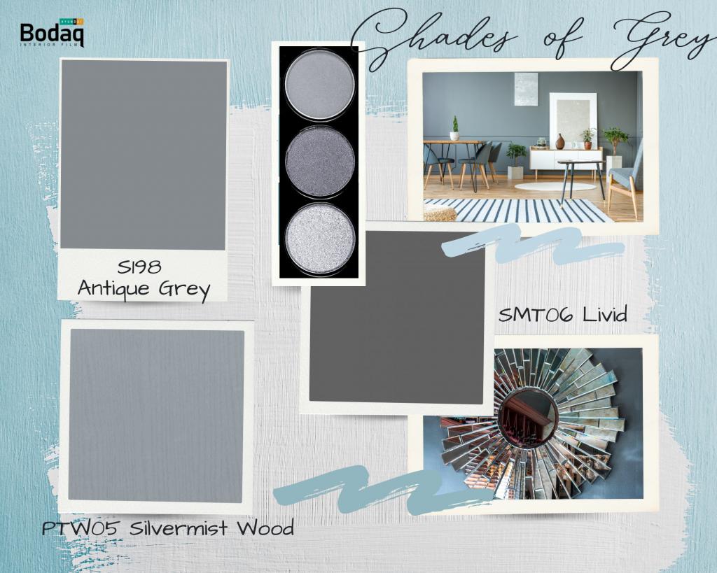 Bodaq Interior Film Shades of Grey Palette