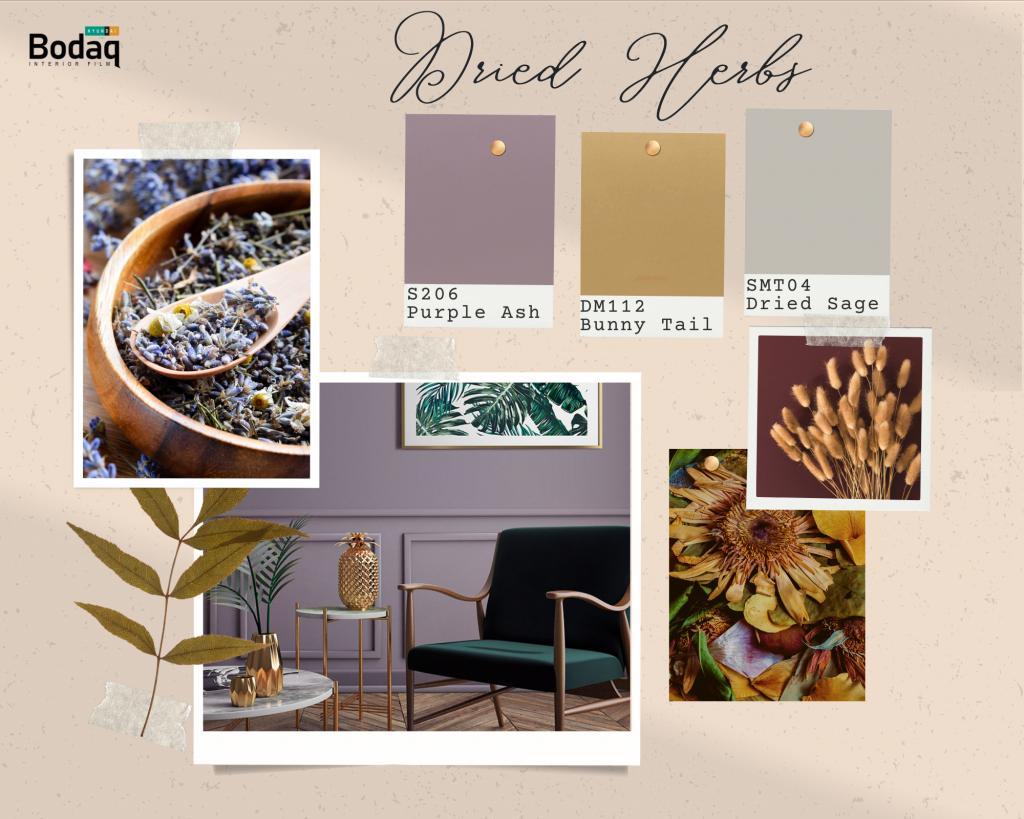Dried Herbs palette of Bodaq Interior Film