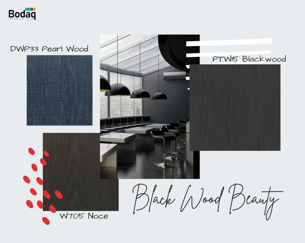 Black Wood beauty Bodaq Interior Film